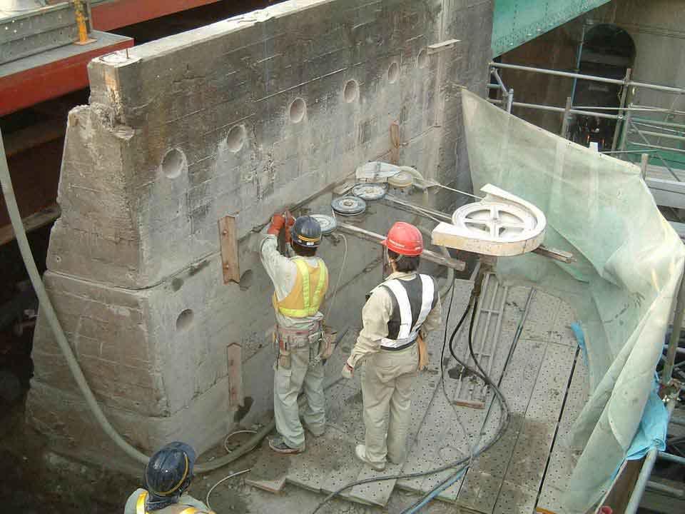 демонтаж армированного бетона